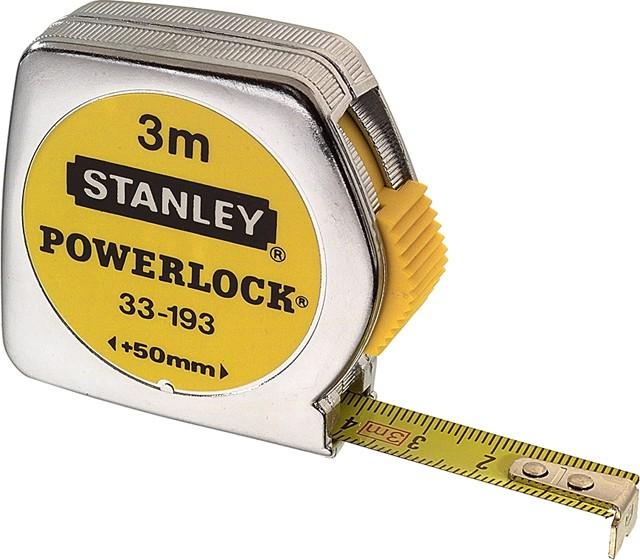 Rollmeter Stanley - Typ Powerlock mit Mylarbeschichtung